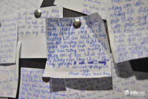 Những bức thư, những lời chúc của các thế hệ học sinh gửi tặng đến người thầy đáng kính.