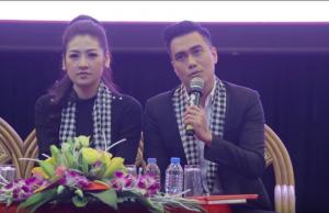 Diễn viên Việt Anh chia sẻ với sinh viên về khởi nghiệp.