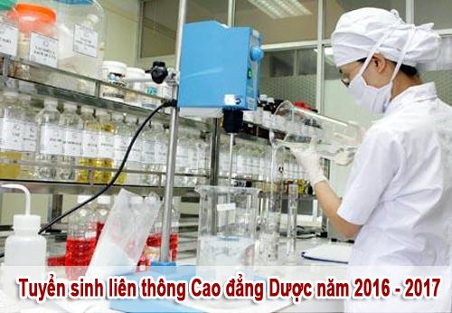 Tuyển sinh liên thông Cao đẳng Dược năm 2016 - 2017
