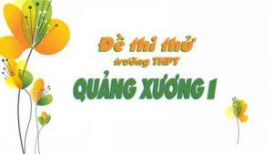 Đề thi thử môn toán 2018 THPT Quảng Xương